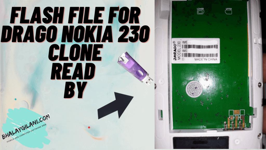 flash file for darago nokia 230 clone