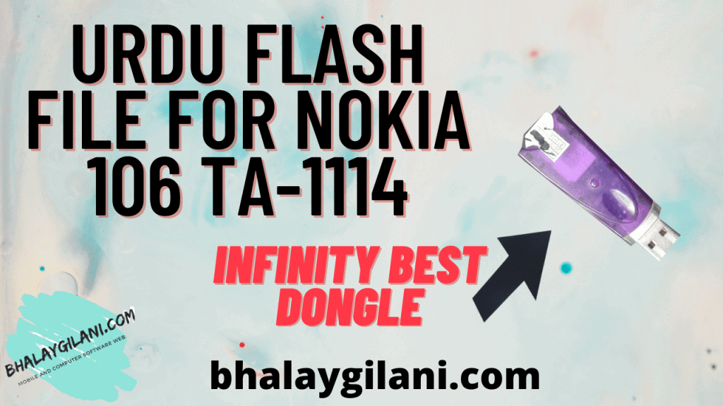 Latest Urdu flash file for Nokia 106 TA-1114