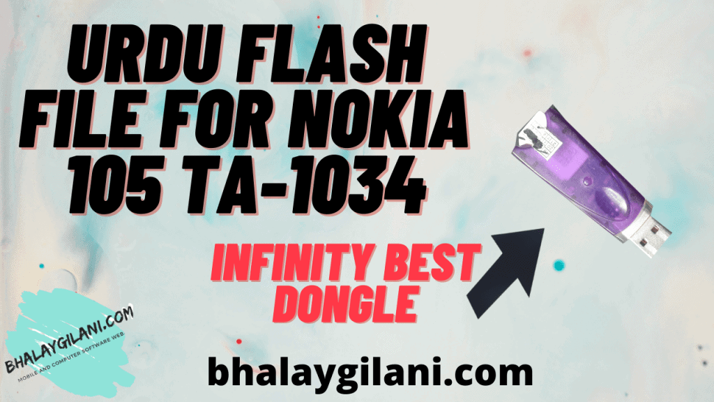 Urdu flash file for Nokia 105 TA-1034