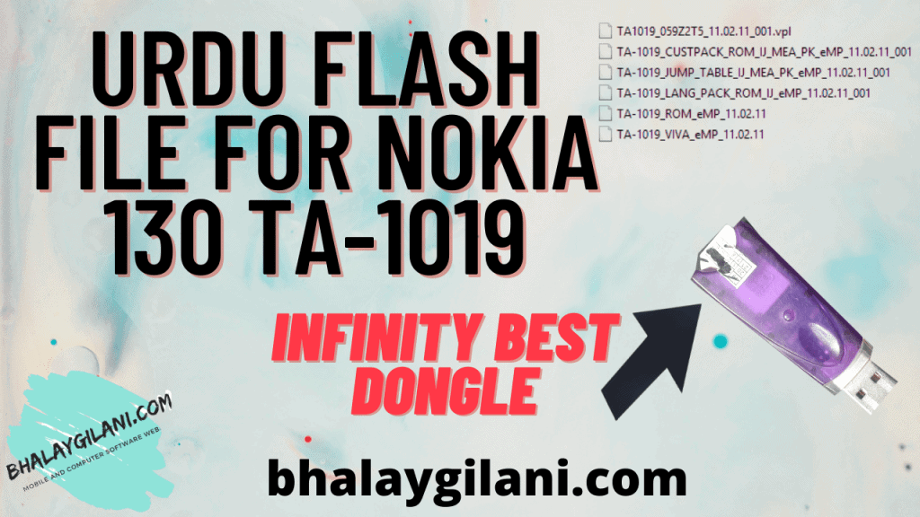 Latest Urdu Flash file for Nokia 130 TA-1019