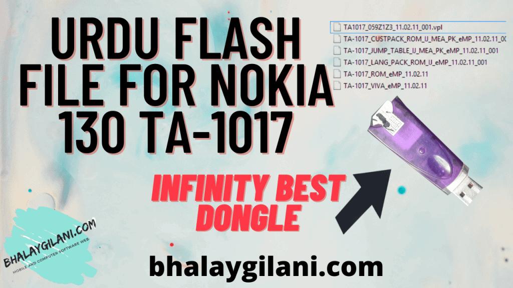 Latest Urdu flash file for Nokia 130 ta-1017